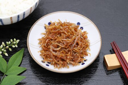 Japanese food, Tsukudani of chirimen jako