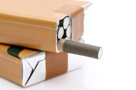 Close up of cigarette packet