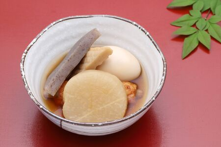 Japanese food, Oden in a ceramic bowl Reklamní fotografie