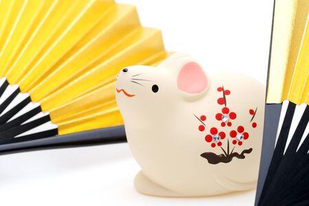 Dolls of Nezumi Mouse, Japanese New Year Object Archivio Fotografico