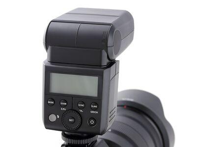 Photo camera body with flash