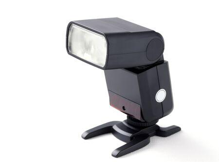 Photo camera flash on stand