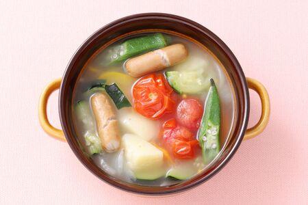 Soup of sausage and vegetables, Pot-au-feu
