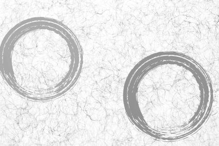 circular pattern of handwritten brush on rice paper
