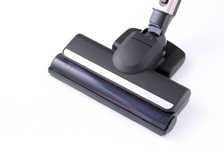 Head of modern vacuum cleaner on white background Stock Photo