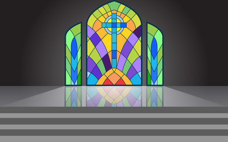 colorful windows in the temple