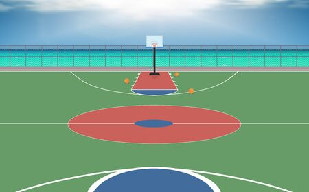 outdoor basketball court Banque d'images - 127014302