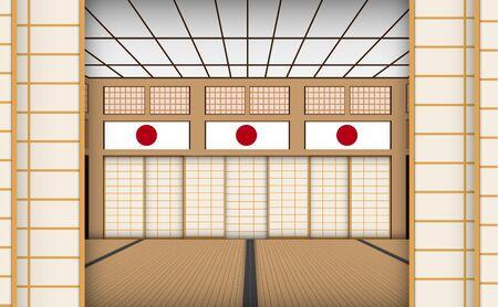 indoor dojo room in japan