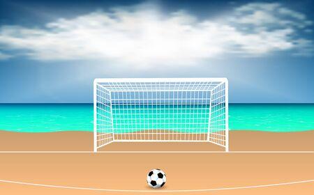 football field at the beach