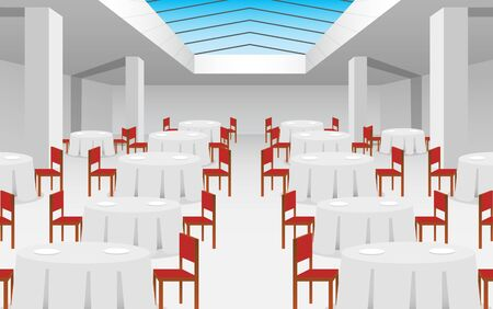 chairs with tables in the ballroom