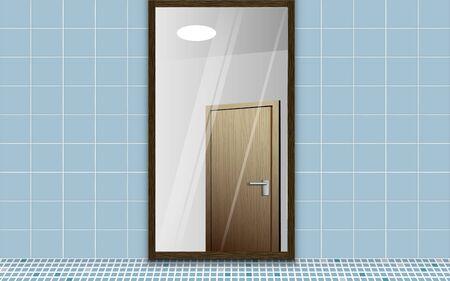 Mirror in the dressing room Stock Illustratie