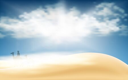 landscape of the desert in the day time Illustration