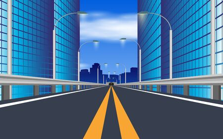 landscape of expressway in the city Stock Vector - 128509107
