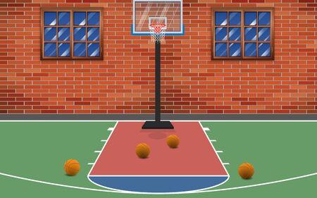 Boisko do koszykówki na podwórku