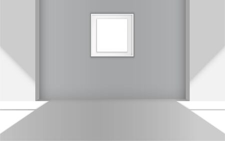 blank picture frame in the gallery room