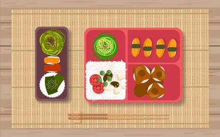 Japanese food in the bento box