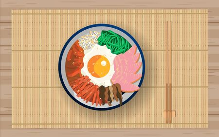 Bibimbap food of korean