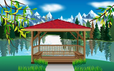 gazebo at the riverside