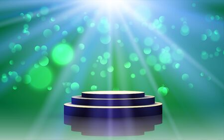 podium with light abstract background