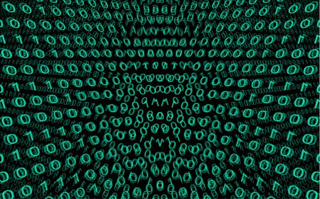logic number abstract background