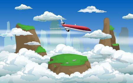 a plane on the sky