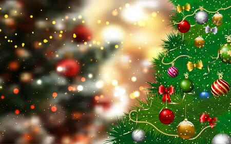 Kerstboom in de rode studiokamer