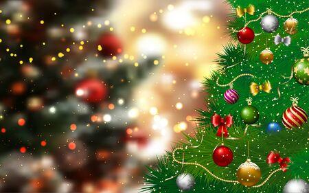 Weihnachtsbaum im roten Atelierraum