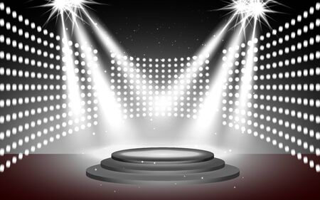 light with podium on the stage Stock Illustratie