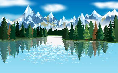 krajobraz laguny o poranku