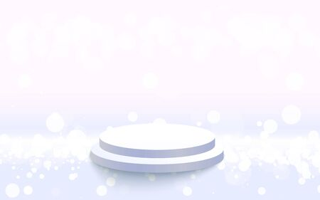 white podium with white light abstract background 일러스트