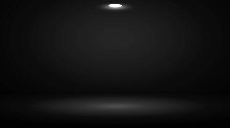 projecteur dans la salle de studio sombre