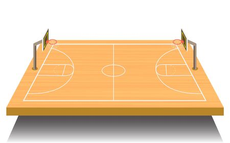 landscape of outdoor basketball court in daytime 免版税图像 - 129606005