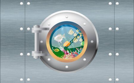 view of porthole at underwater