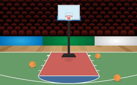 indoor basketballs court in the hall