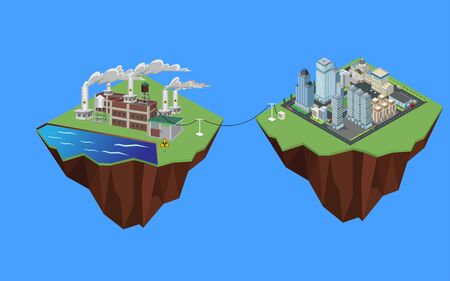 Electricity from nuclear power to the city