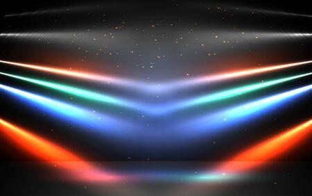 colorful light of spotlight on the stage Stok Fotoğraf - 129607137