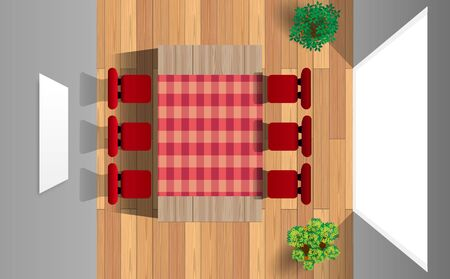 table and chairs in the dinner room