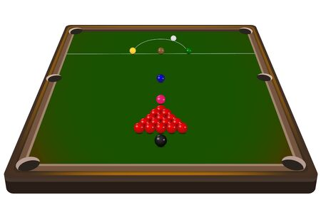 snooker table in the room