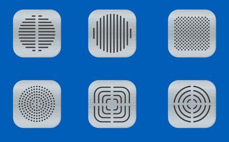 Speaker frame on the blue background Ilustracja