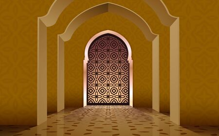 view of door in mosque