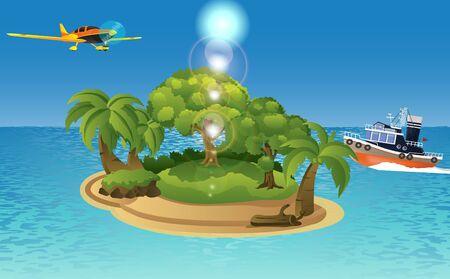 Insellandschaft im Ozean