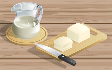 tofu and tofu milk on the wooden table 写真素材 - 129702670