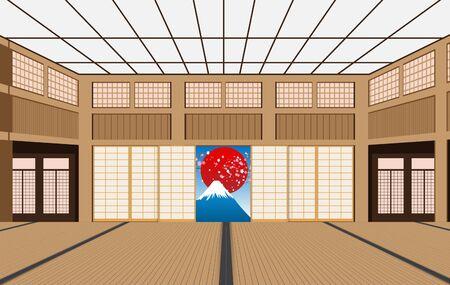 dojo Interior decoration in japan Vektorové ilustrace