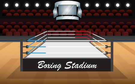 Boxing stadium in the hall