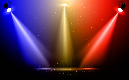 colorful spotlight on the stage