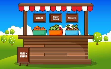 fresh fruits in the farmer market Archivio Fotografico - 129946617