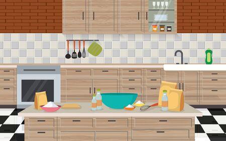 Interior decoration of kitchen room