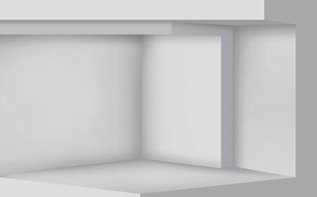 gray cement floor in the studio room