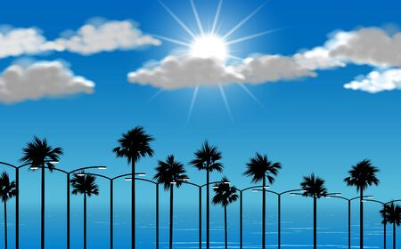 landscape of palm tree on beach in the day time