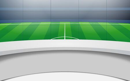 table and lcds in the sport studio news